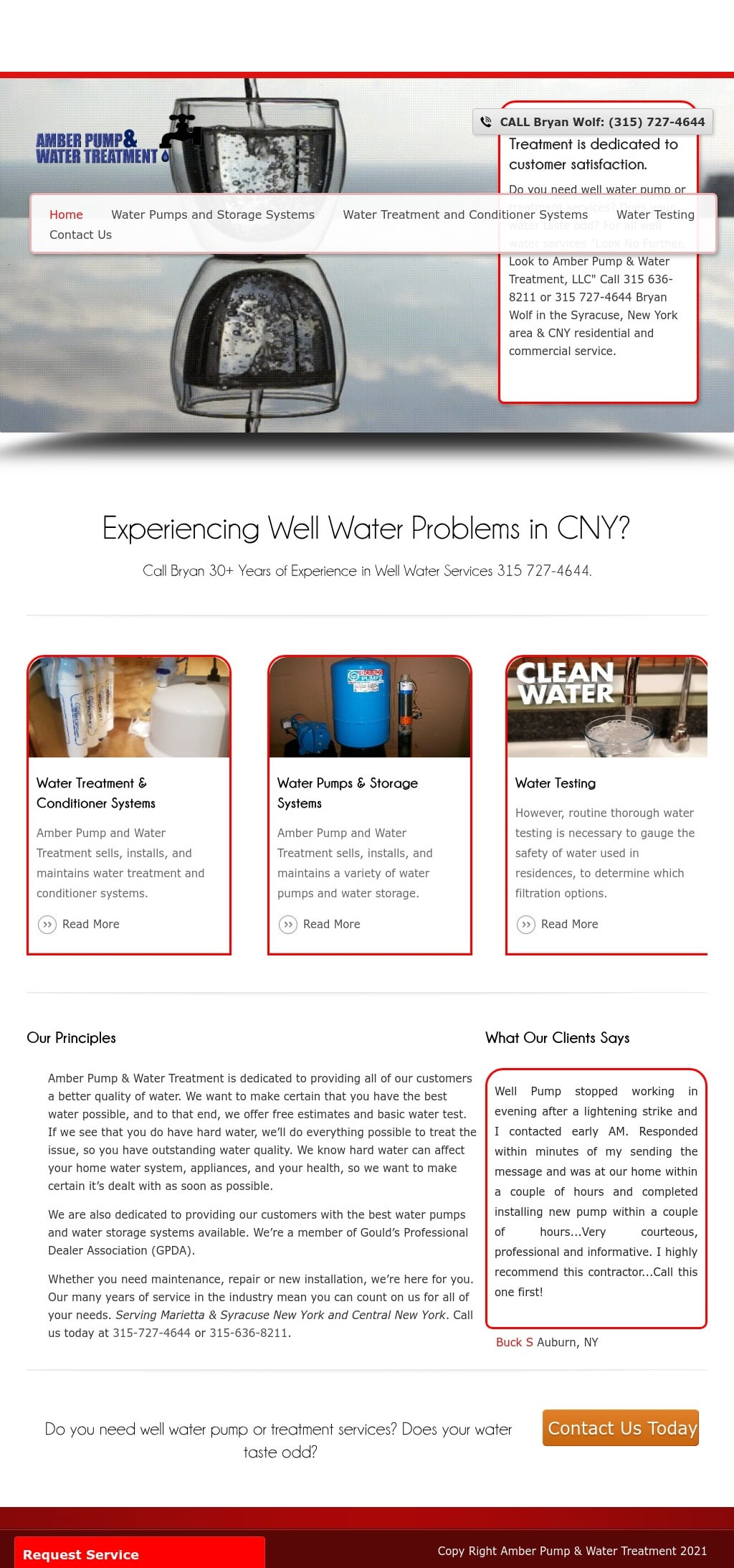 Amber Pump & Water Treatment  Syracuse New York