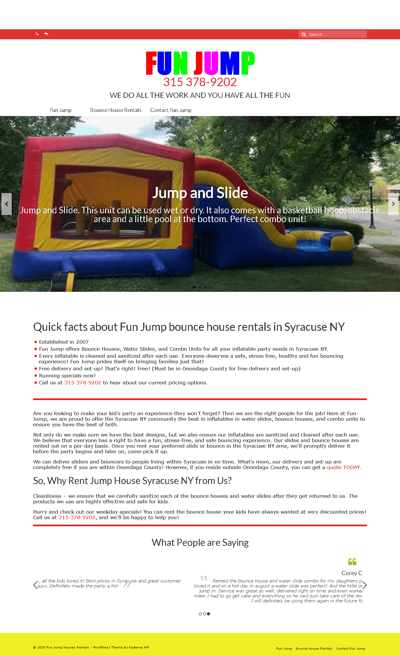 Fun Jump bounce house rentals in Syracuse NY